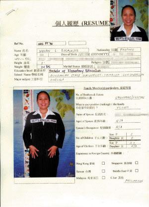 Resume For Filipino Working Overseas