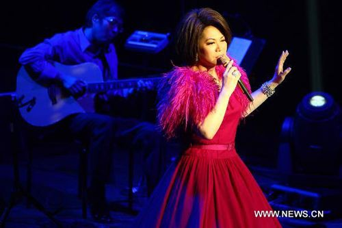 Singer Tsai Chin performs during her Charity Concert at Lincoln Center in New York, May 10, 2011. [Xinhua/Wu Kaixiang]