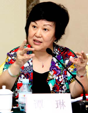 Head of the Women's Studies Institute of China Tan Lin. [WSIC]