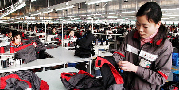 is the chinese textile industry a
