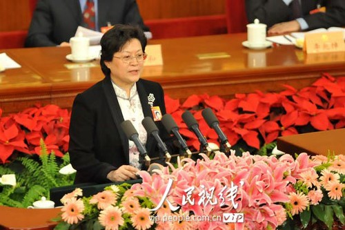 Zhen Yan, member of the Chinese People's Political Consultative Conference (CPPCC) and vice-president and member of the Secretariat of the All-China Women's Federation, calls for police departments across China to crackdown on human trafficking of women and children. [people.com.cn]