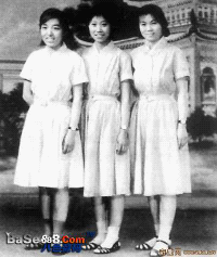 Girls wearing the Jiang Qing shirtwaist dress [base888.com]