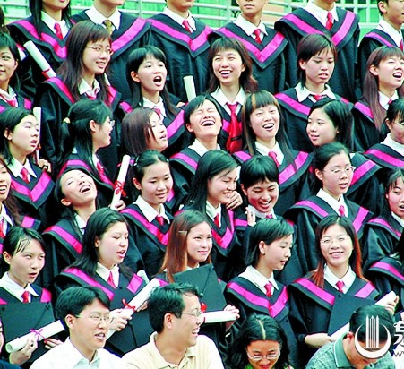 Women college students at their graduation ceremony [qzwb.com]