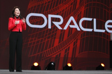 Safra Catz, co-president and chief financial officer of Oracle Corp., speaks during the Oracle OpenWorld 2011 conference in San Francisco on Oct. 5, 2011. [time.com]