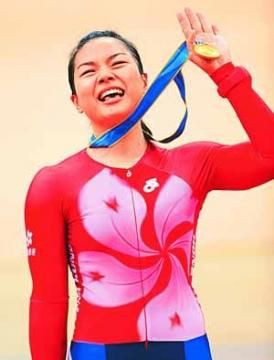 Hong Kong cyclist Lee Wai Sze [Chinanews]