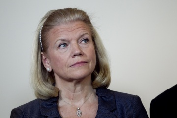 Virginia Rometty, chief executive officer of International Business Machines Corp., attends a Business Roundtable news conference in Washington, D.C. on, March 7, 2012. [time.com]