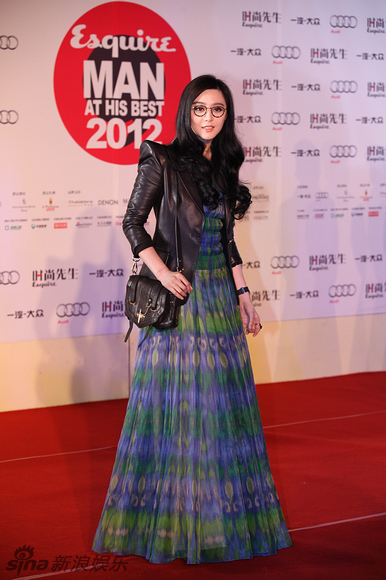 Chinese actress, singer and producer Fan Bingbing attends the Esquire Man at His Best 2012 event held at Century Theatre in Beijing on the evening of December 5, 2012. [sina.com]