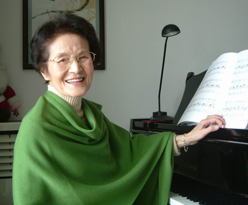 Zhou Xiaoyan, 96, is a vocalist and tenured professor at the Shanghai Conservatory of Music. [shcmusic.edu.cn]
