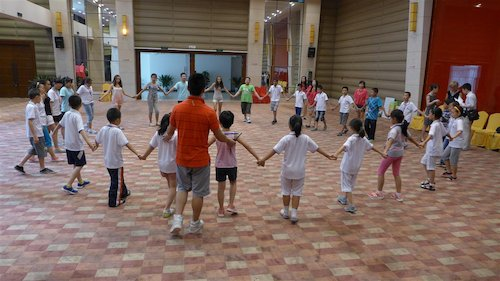 Group dancing at the Bluestar International Summer Camp [Women of China/Yao Yao]