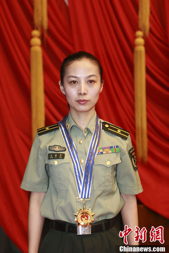 China's Central Military Commission Honors Shenzhou-10 ... Wang Yaping