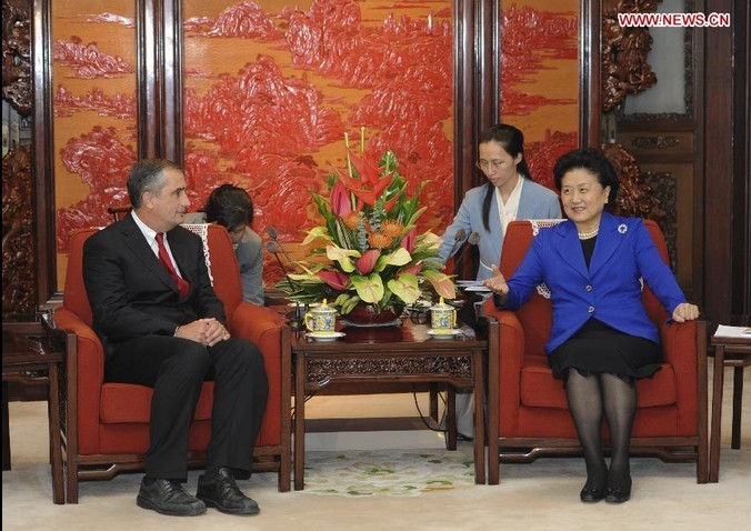 Liu Yandong Meets with Intel's CEO in Beijing