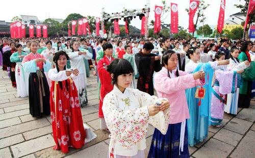 chinese han clothes presented in xitang all china women