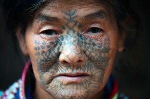 Dulong Women Facial Tattoos Tradition Dying Out