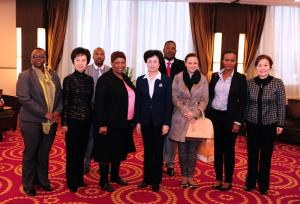 ACWF VP Meets South Africa's Education Minister