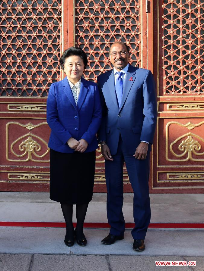Liu Yandong Meets UNAIDS Executive Director in Beijing
