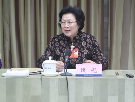 CPPCC Member Zhen Yan Talks about Protecting Women's Rights and Interests