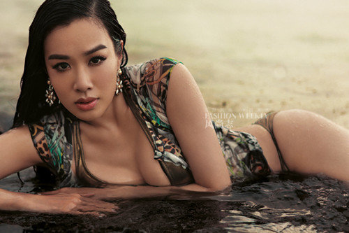 christy chung poses for fashion weekly   all china women s federation