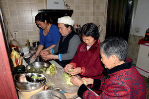 Chinese Woman Takes Good Care of Dead Husband's Parents