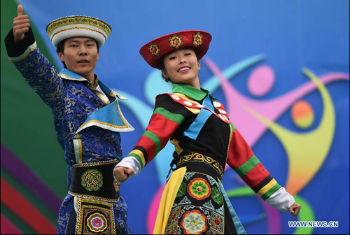 Dancers Perform at 10th Chinese Ethnic Games in Heilongjiang