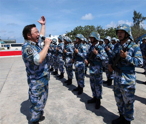 Chinese Navy Stages Spratly Islands Performance on Labor Day