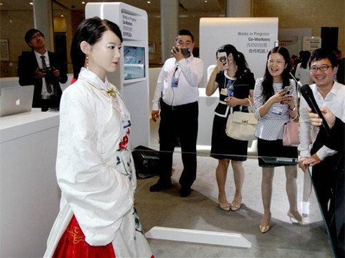 Image result for images of jia jia the robot
