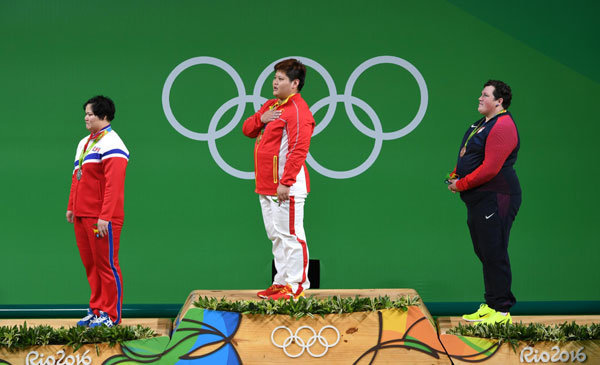 Meng Suping Wins Women's over 75kg Weightlifting Gold at Rio Olympics