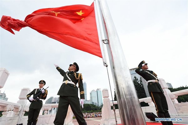 National Flag-Raising Ceremonies Held Across China on National Day