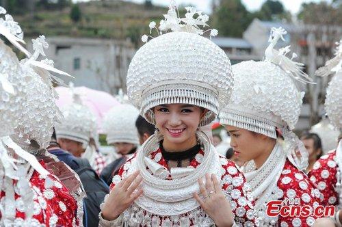 100kg Silver Hat Shown in Ethnic Miao Folk Festival - All