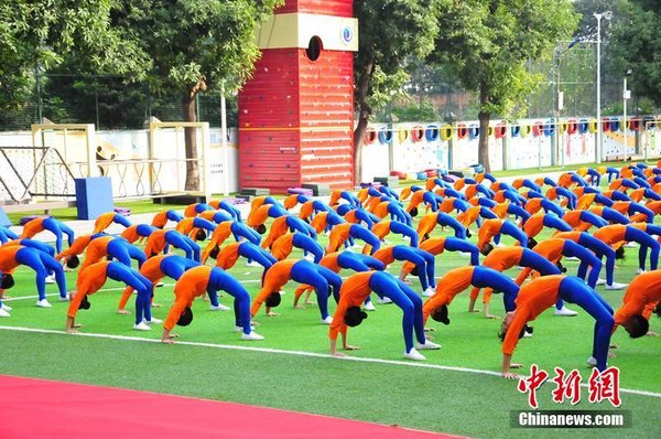 S China's Guangzhou Students Train Gymnastics
