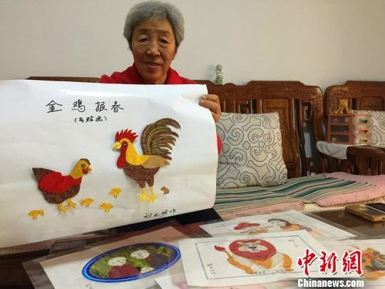 Octogenarian Promotes Traditional Cultural Inheritance with Cloth Collages