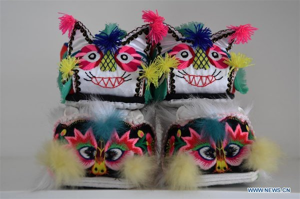 Traditional Chinese Folk Handicraft: Tiger-Head Shoes