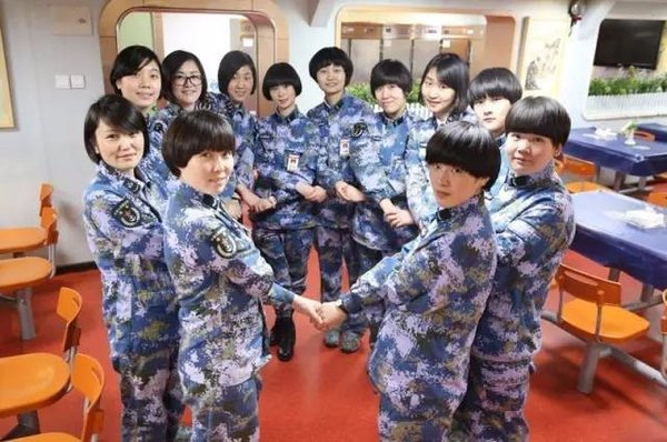 On-board with Chinese Aircraft Carrier's 1st Female Sergeant Major