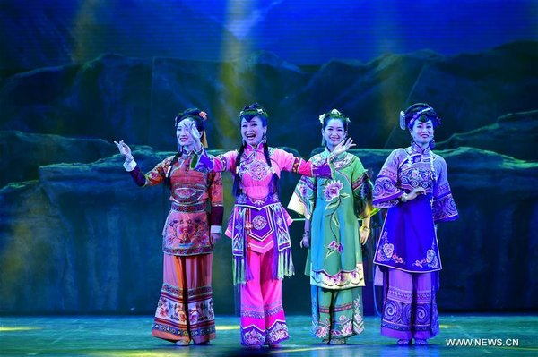 Actors Perform Folk Musical Drama in C China's Enshi