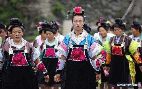 Miao People Celebrate Chixin Festival in China's Guizhou
