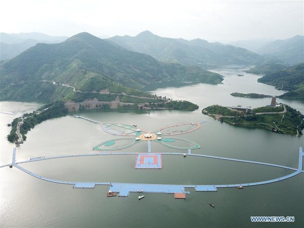 Butterfly-shaped Floating Boardwalk to be Opened in SW China's Guizhou