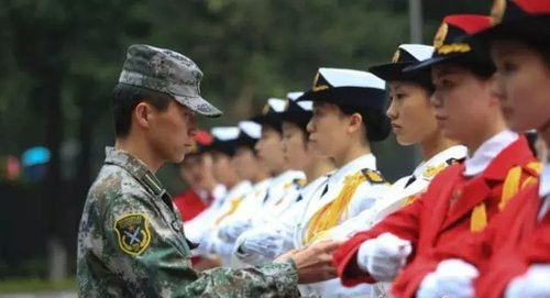 Women's National Flag Teams at Chinese Unis