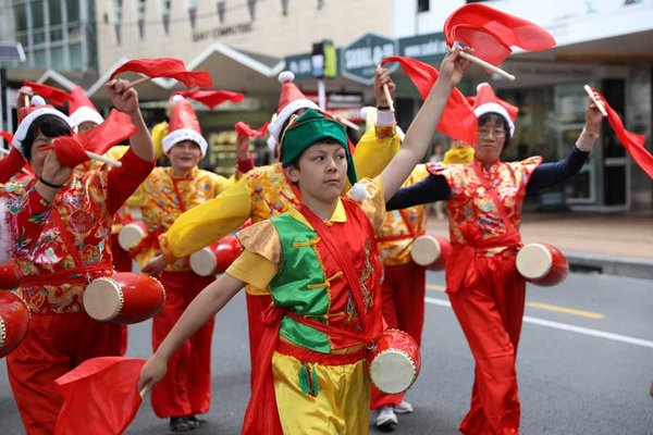 The Christmas Parade.Chinese Elements Highlight 2017 Wellington Christmas Parade