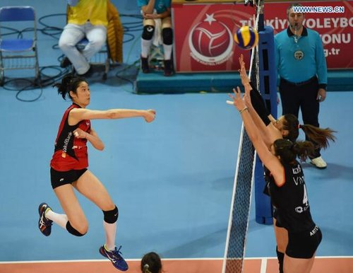 Zhu Ting with Vakifbank Wins 3-0 Against Eczacibasi in Turkish Cup Final