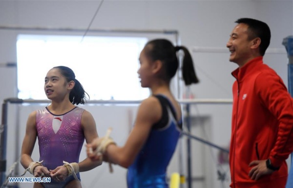 Chinese Women Gymnasts Attend Training Program in West Des Moines, U.S.