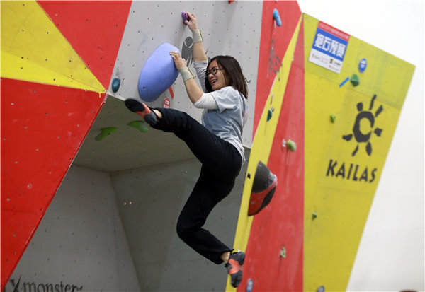 奥运融合在中国推动攀岩业务