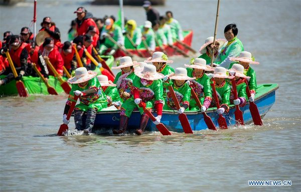 Qintong Boat Festival Marked in Taizhou, E China