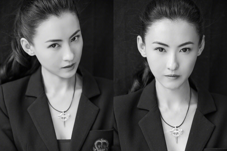 Female Celebrities in Black and White
