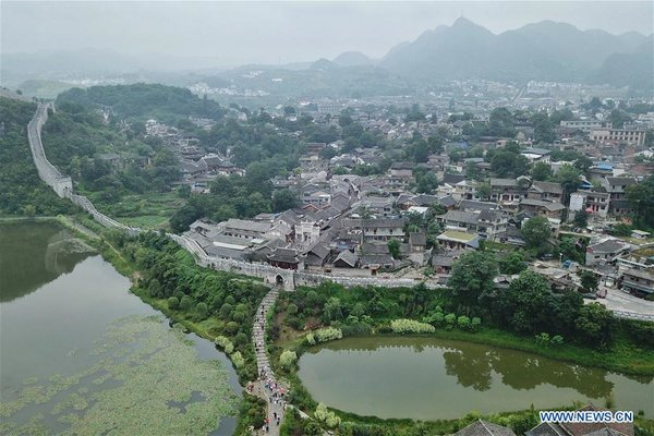 Tourists Visit Qingyan Ancient town in Guiyang, SW China's Guizhou