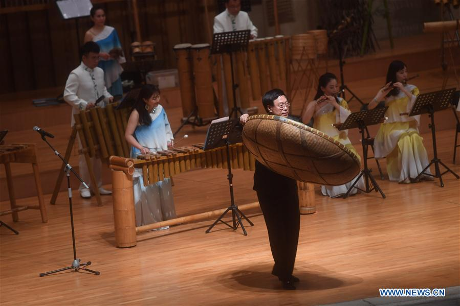 Bamboo Orchestra Perform at Forbidden City Concert Hall in Beijing