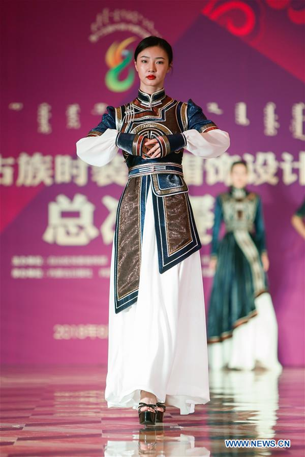 Creations of Mongolian Costumes Displayed in Hohhot