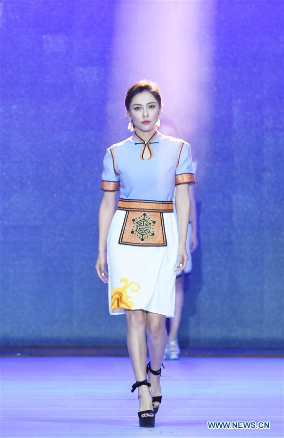 Mongolian Ethnic Fashion Design Show Held in Hohhot, N China's Inner Mongolia