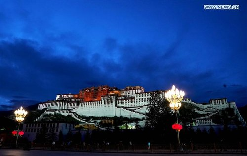 Scenery of Potala Palace in Lhasa