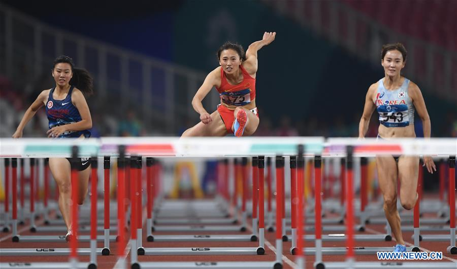 Women's 100m Hurdles Qualification at Asian Games 2018