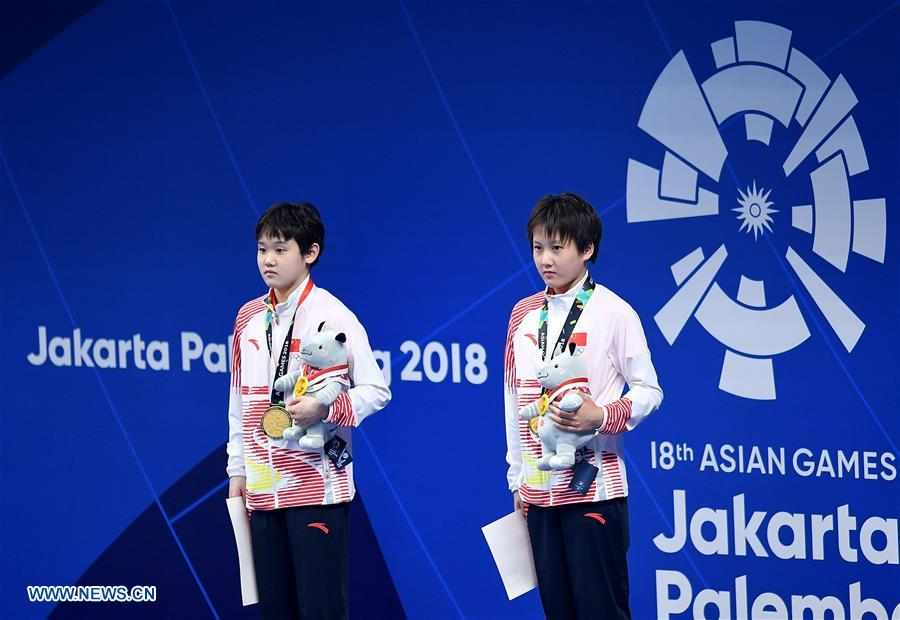 China Wraps Two Golds in Sycnhro Events at Asiad