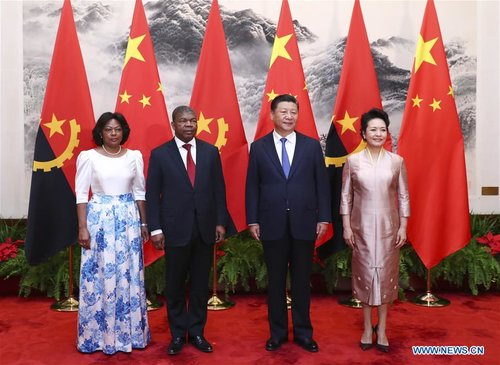 China, Angola Agree to Promote Ties As Presidents Meet in Beijing